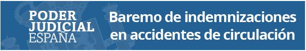 Baremo de indemnizaciones en accidentes de circulación